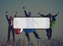 Pixel Concep do anúncio de uma comunicação de espaço da cópia da bolha do discurso Fotos de Stock Royalty Free