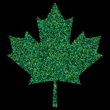 Pixel Confetti of colorful shades falling maple leafs. Mosaic print. For advertising booklets about the sale, covers, posters, inv Royalty Free Stock Photography