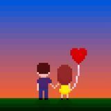 Pixel Couple Royalty Free Stock Images