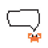Pixel crabs want to say something vector Stock Photos