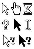 Pixel cursors. Collect Standard Pixel Cursors, element for design, vector illustration Stock Image