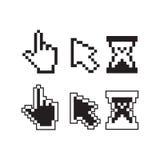 Pixel cursors Stock Image