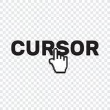 Pixel cursors icons mouse hand arrow. Mouse computer cursor. Han. D arrow web cursor set Royalty Free Stock Photography