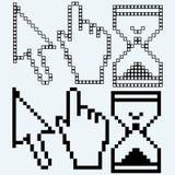 Pixel cursors Stock Photo