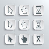 Pixel cursors Web Icons Set Stock Photos
