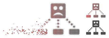 Pixel déchiqueté Smiley Relations Diagram Icon triste tramé illustration libre de droits