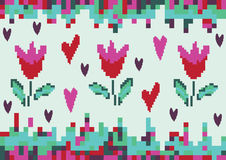 Pixel da tulipa da mola do amor Fotos de Stock