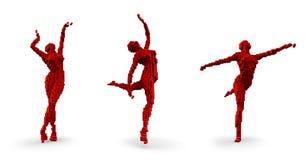 Pixel dancers Stock Image