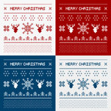 Pixel deers and christmas trees Royalty Free Stock Images