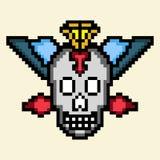 Pixel del cráneo foto de archivo libre de regalías