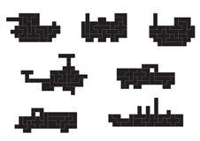 Pixel del trasporto Fotografia Stock