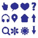 Pixel dell'icona Fotografie Stock