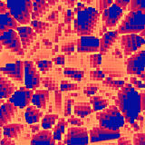 Pixel depth wallpaper. Digital points abstract volumetric background royalty free stock photography