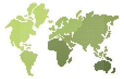 Pixel design world map Stock Photo