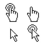 Pixel di clic del cursore Fotografie Stock