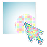 Pixel di colore dello schermo Immagine Stock Libera da Diritti