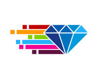 Pixel Diamond Icon Logo Design Element Image libre de droits