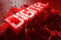 Pixel Digitaal Concept Stock Afbeelding