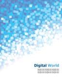 Pixel digital bleu de fond illustration libre de droits