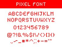 Pixel digital font stock illustration