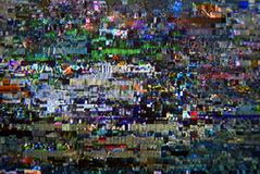 Pixel digital TV Royalty Free Stock Image