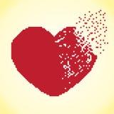 Pixel do coração Imagem de Stock