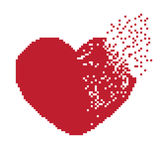 Pixel do coração Imagem de Stock Royalty Free
