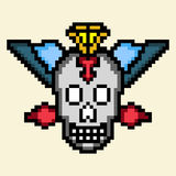 Pixel do crânio Foto de Stock Royalty Free