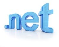 Pixel domain symbol dot net Royalty Free Stock Photography