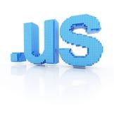 Pixel domain symbol dot us Stock Images