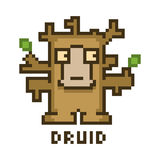 Pixel druid for 8-bit video games Royalty Free Stock Photos