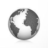 Pixel earth globe icon. Vector illustration, isolated Royalty Free Stock Image