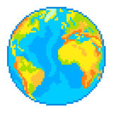 Pixel Earth globe  vector Royalty Free Stock Photography