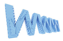 Pixel email symbol Royalty Free Stock Image