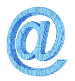 Pixel email symbol Royalty Free Stock Photos