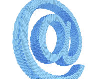 Pixel email symbol Royalty Free Stock Photo