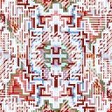 Pixel en lijnen van gekleurd geometrisch abstract patroon stock illustratie
