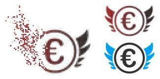 Pixel endommagé euro Angel Investment Icon tramé illustration de vecteur