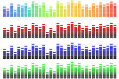 Pixel equalizer. Vector illustration of pixel equalizer with various colors Stock Photography