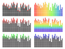 Pixel equalizer. Vector illustration of pixel equalizer with various colors Royalty Free Stock Photo