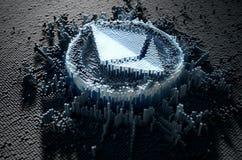 Pixel Ethereum Concept Stock Photos