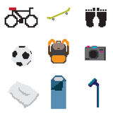 Pixel everyday life Stock Image