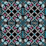 PIXEL färgade den geometriska sömlösa modellvektorillustrationen Royaltyfria Foton