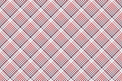 Pixel fabric texture check plaid tablecloth seamless pattern Stock Image