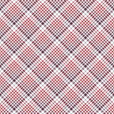 Pixel fabric texture check plaid tablecloth seamless pattern Royalty Free Stock Photos