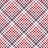 Pixel fabric texture check plaid tablecloth seamless pattern Stock Photo
