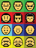 Pixel Faces. Of some game-boy stock illustration