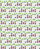 Pixel family pattern Stock Images