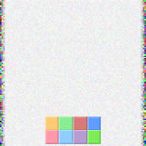 Pixel-Farbquadrat-Hintergrund Stockfoto