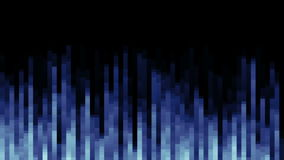 Pixel field of particular dots and vertical lines go down from up. 3D rendering Royalty Free Stock Photos